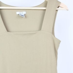 Cache Tops - Cache Womens Blouse Sleeveless Tank Size Small Tan
